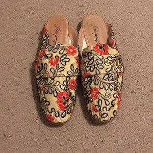 Free People Embroidered Loafers 39